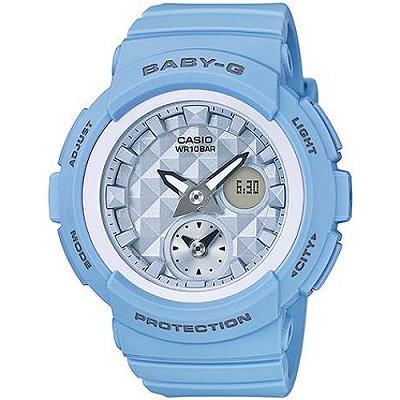 BABY-G 愛旅行海灘女孩旅行數位錶-藍(BGA-190BE-2A)/28mm