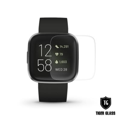 T.G Fitbit Versa 2 高透3D防爆水凝膜螢幕保護貼-滿版(2入)