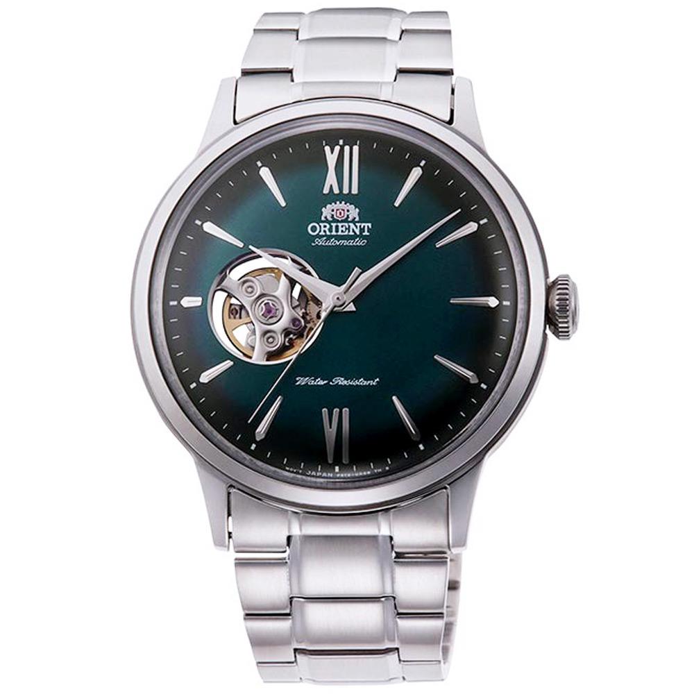 ORIENT 東方 鏤空機械手錶 RA-AG0026E-綠X銀/40mm