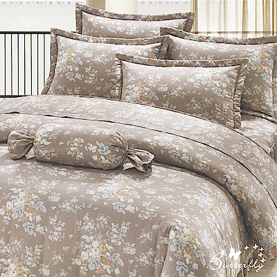 BUTTERFLY-多款1-台製40支紗純棉30公分加大雙人床包+雙人兩用被