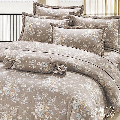BUTTERFLY-台製40支紗純棉加高30cm雙人床包+薄式信封枕套-少女時代-灰