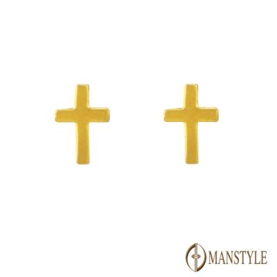 MANSTYLE 守護 黃金耳環 (約0.24錢)