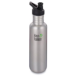 美國Klean Kanteen不鏽鋼冷水瓶800ml-原鋼色