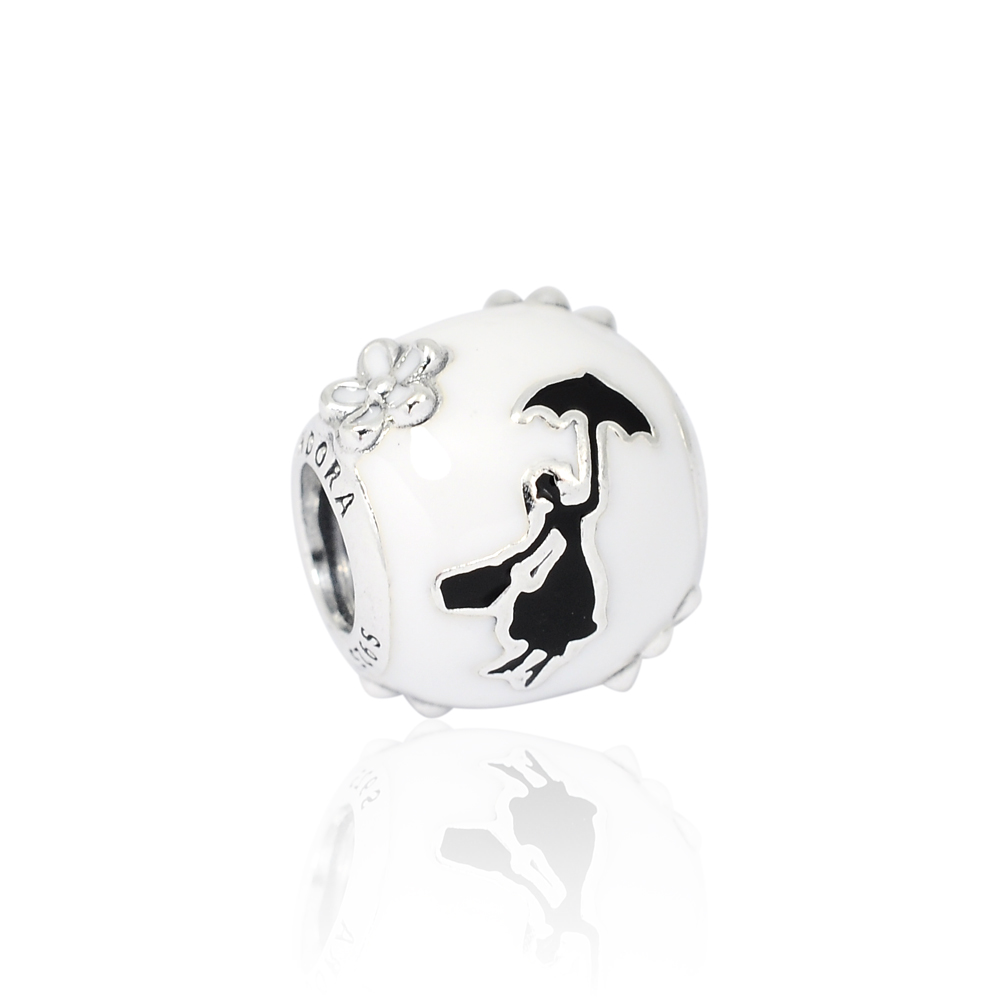 Pandora 潘朵拉 迪士尼系列  Mary Poppins琺瑯剪影 純銀墜飾 串珠