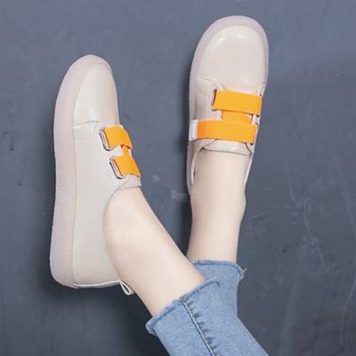 韓國KW美鞋館 俏皮輕甜女孩方便小白鞋-杏