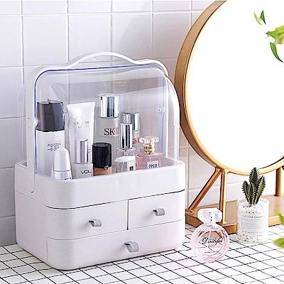 木暉 日式簡約風可攜式防水化妝盒(大)