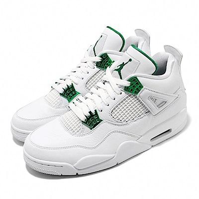Nike 休閒鞋 Air Jordan 4代 Metallic Pine Green 男鞋 飛人 經典喬丹 AJ4 白 綠 CT8527113