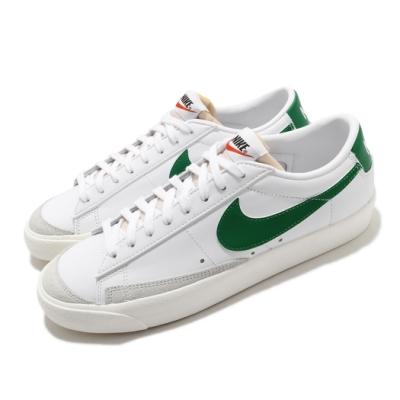 Nike 休閒鞋 Blazer Low 77 VNTG 男鞋 基本款 簡約 舒適 皮革 質感 穿搭 白 綠 DA6364115