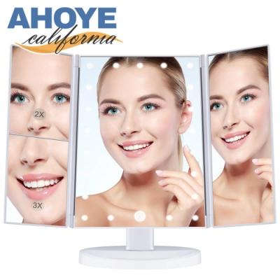 AHOYE 24LED觸碰式可調光化妝鏡