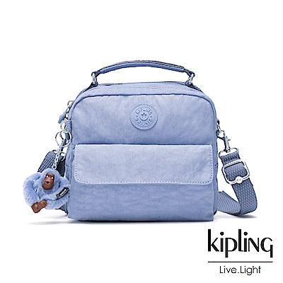 Kipling 溫柔粉藍兩用側背後背包-CANDY