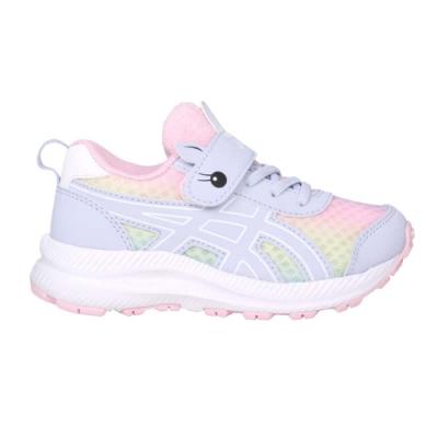 ASICS CONTEND 7 PS SCHOOL YARD女中童慢跑鞋 1014A208-405 紫粉橘黃藍