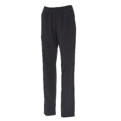 荒野【wildland】女透氣抗UV寬版直筒長褲黑色