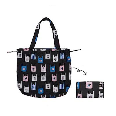 Antenna Shop野餐趣束口摺疊購物袋-繽紛袋