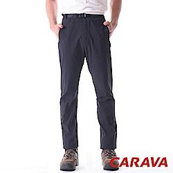 CARAVA《男款彈性排汗休閒褲》(黑)