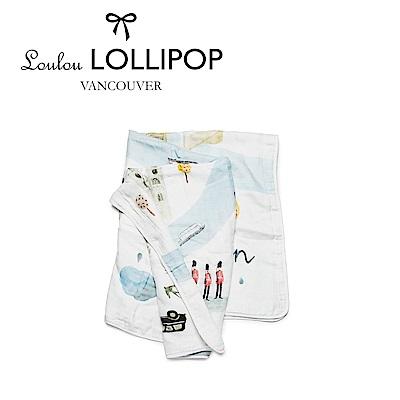 加拿大Loulou lollipop 竹纖維透氣包巾120x120cm-英國倫敦