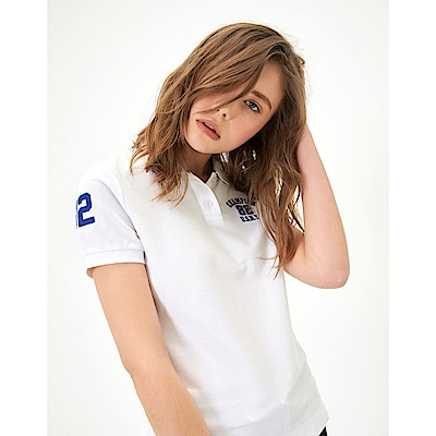 CACO-立體繡POLO衫-情侶款(兩色)-女【TAR048】