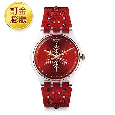 [限訂金膨脹購買]Swatch New Gent XMAS SHINEBRIGHT 紅色耶誕手錶