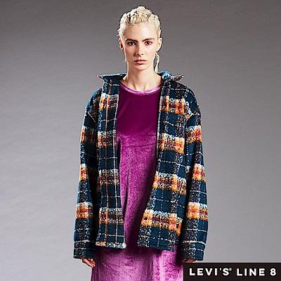 Levis 男女同款 格紋襯衫外套 Line 8系列 寬鬆版型 外刷毛