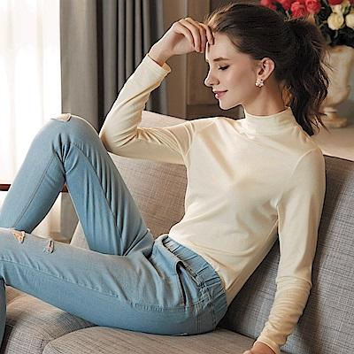 華歌爾-極衣恆溫M-LL 厚刷立領保暖衣(楓葉黃)保暖柔暖-吸水速乾