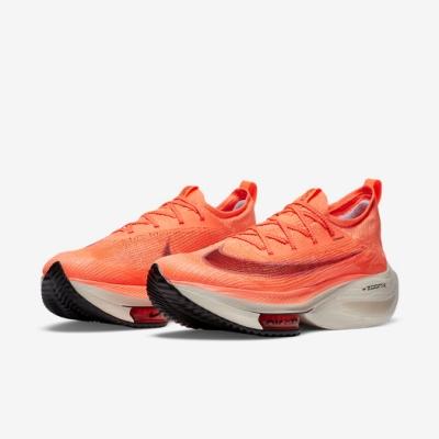 Nike 慢跑鞋 Zoom Alphafly Next% 男鞋 氣墊 舒適 避震 路跑 健身 球鞋 襪套 橘 白 CI9925800