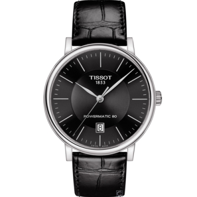 TISSOT CARSON 都會品味紳士機械錶(T1224071605100)40mm
