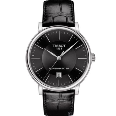 TISSOT天梭CARSON都會品味紳士機械錶(T1224071605100)40mm