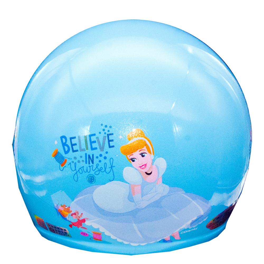 迪士尼公主系列 仙履奇緣 灰姑娘Cinderella仙杜瑞拉兒童半罩安全帽(中童)(藍)