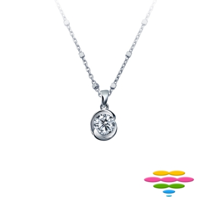彩糖 50分鑽石 G/SI2 18K 玫瑰花鑽石項鍊