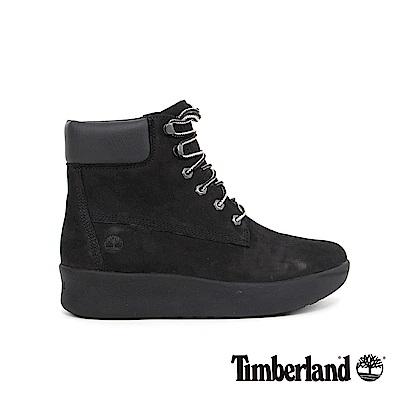 Timberland 女款黑色皮革6吋靴