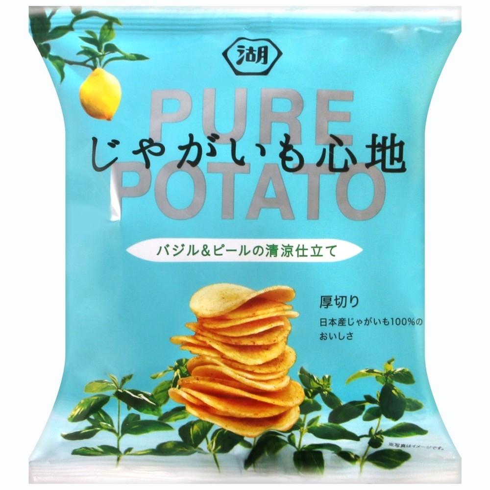 湖池屋 PURE POTATO羅勒風味薯片(58g)