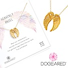Dogeared heavenly angel 金色天使翅膀項鍊 守護天使項鍊 附原廠盒