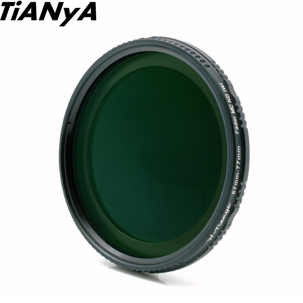 Tianya 防刮防污多層膜Vari可調式 ND2-ND400減光鏡67mm全黑色