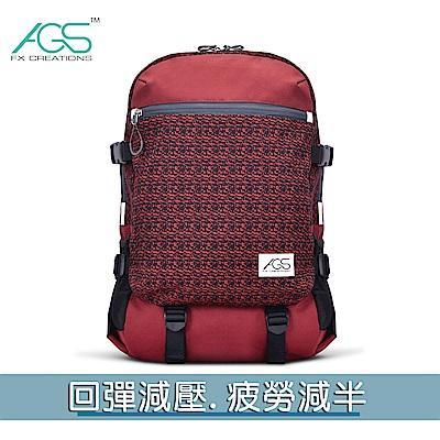 FCB 15.6吋AGS回彈減壓電腦後背包-暗紅色  FCB69903A-89