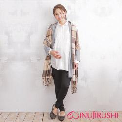 日本犬印 孕婦用棉質貼腿褲(10分褲) M/L 黑色
