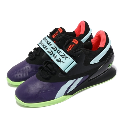 Reebok 舉重鞋 Legacy Lifter II 運動 男鞋 海外限定 支撐 穩定 包覆 魔鬼氈 黑 紫 FX3226