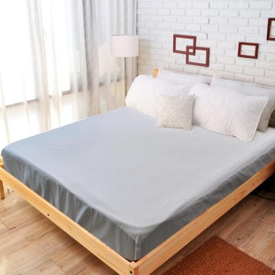 亞曼達Amanda 100%防水透氣抗菌保潔墊 -床包式單人 (灰色)
