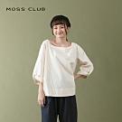 【MOSS CLUB】簡約風造型領-上衣(二色)