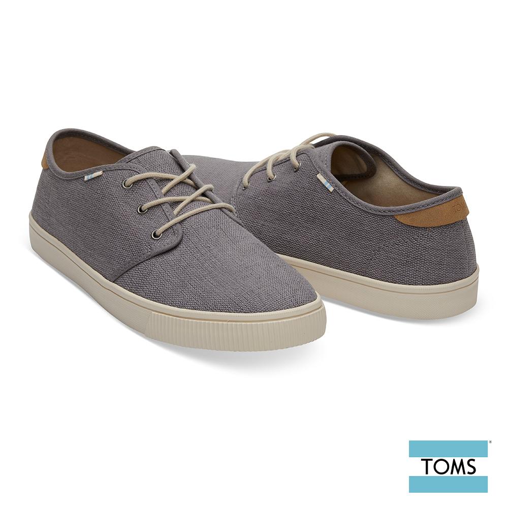 TOMS 素面綁帶帆布休閒鞋-男款-Topanga系列