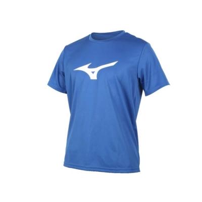 MIZUNO 男 短袖T恤 藍白淺灰