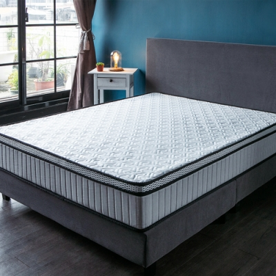 obis BEDI360度護邊冰晶紗恆溫雙人加大6尺獨立筒床墊
