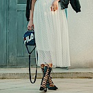 FILA #漢城企劃 女款紗裙-白 5SKT-1427-WT