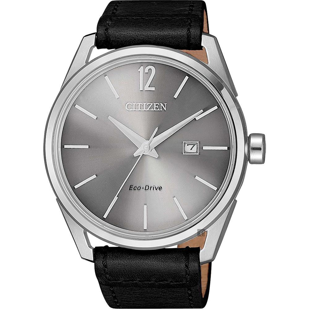 CITIZEN 星辰 光動能雅仕手錶-灰x黑/42mm BM7411-16A