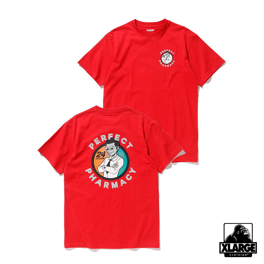 XLARGE S/S TEE PERFECT 短袖T恤-紅