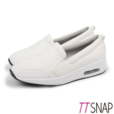 TTSNAP運動鞋-MIT真氣墊輕量透氣休閒鞋 白