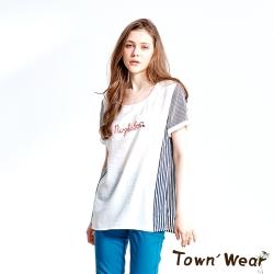 美式條紋拼接純棉上衣美式條紋拼接純棉上衣