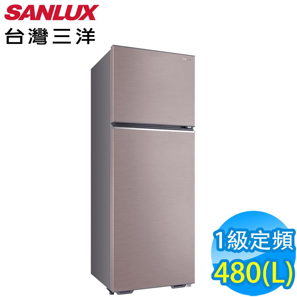 SANLUX台灣三洋 480L 1級定頻2門鏡面電冰箱 SR-C480B1-P