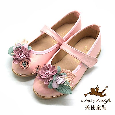 天使童鞋 杜樂莉花園公主鞋 J8006-粉