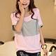 Lockers 木櫃  韓版對比色拼接蝙蝠袖T恤/上衣-2色 product thumbnail 1