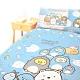 享夢城堡 單人床包涼被三件組-角落小夥伴 冰原歷險-藍 product thumbnail 1