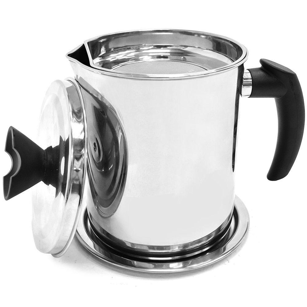 304不銹鋼濾油壺(大號) 不鏽鋼濾渣油罐儲油罐